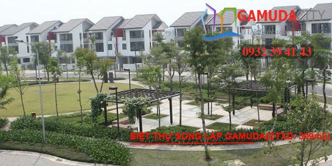 Mặt bằng biệt thự Gamuda Gardens diện tích xây dựng 306m2