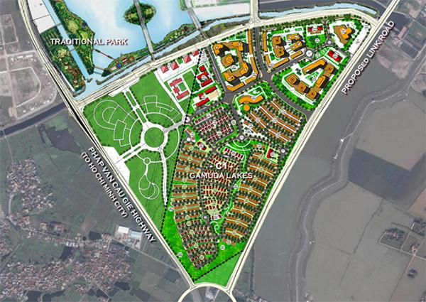 Phối cảnh dự án Gamuda lakes