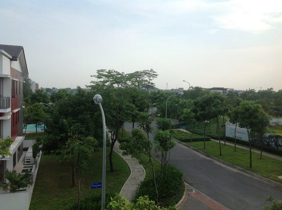 Cảnh quan Gamuda nhìn từ phòng căn biệt thự