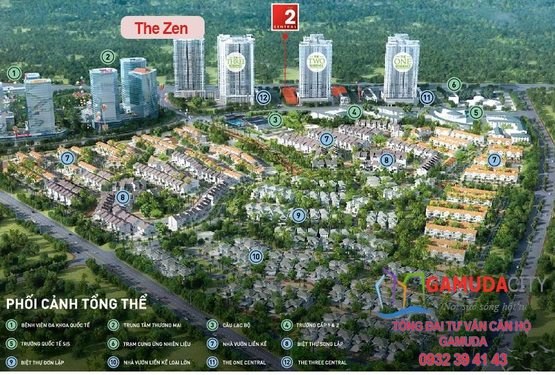 Vị trí chung cư The Zen Gamuda Gardens