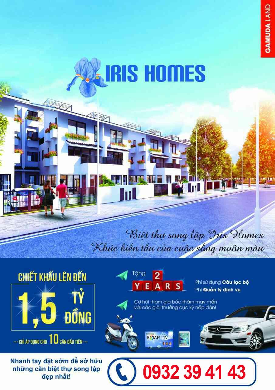 Biệt Thự Song Lập SD5 Iris Homes Giai Đoạn 3 Gamuda Gardens